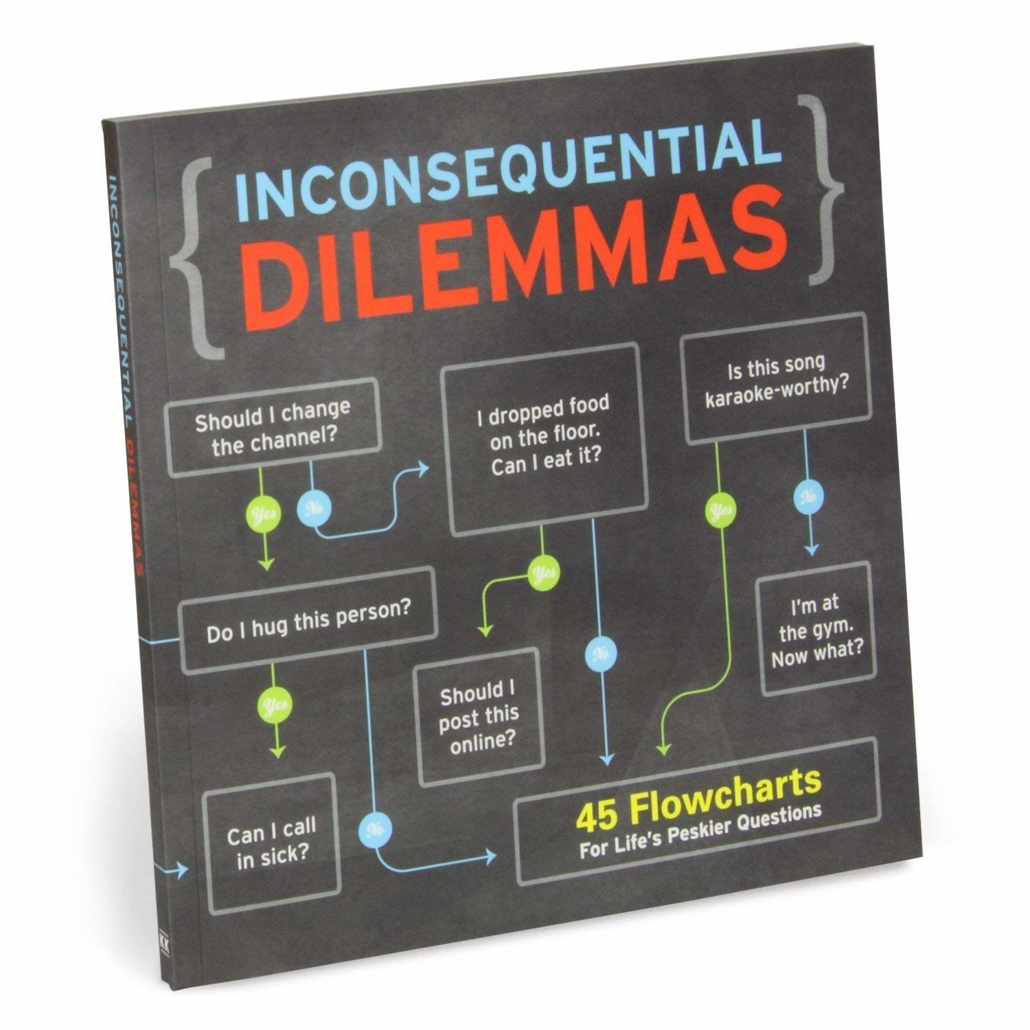 The cover of Knock Knock Inconsequential Dilemmas: 45 Flowcharts For Life's Peskier Questions