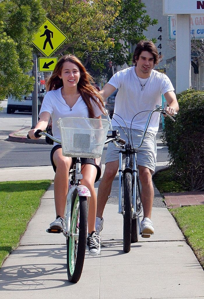 they're riding bikes, his name is justin gaston