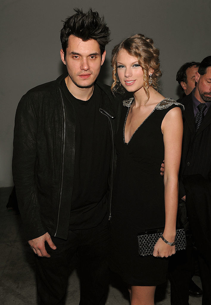"""swift posing with the muse for her scathing """"dear john"""" song"""