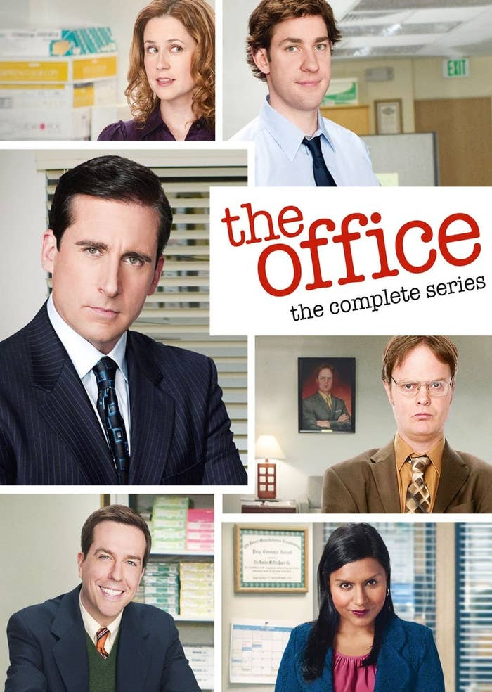 Cover image of the DVD set featuring cast members of The Office