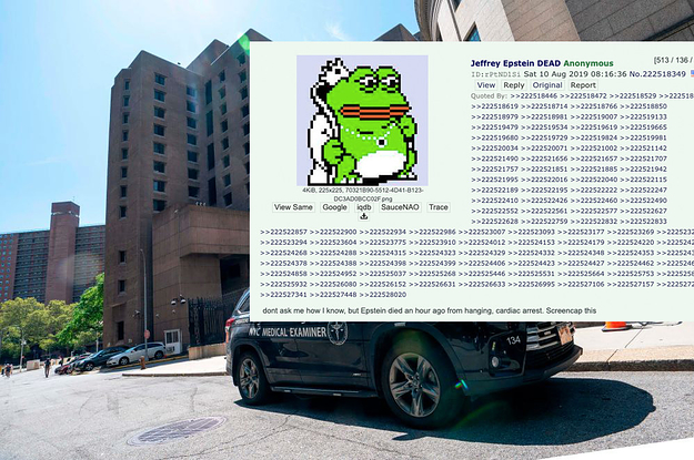 Epstein's Death Was On 4Chan Before Officials Announced It — Now Authorities Are Investigating