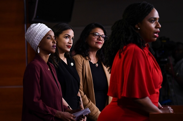 """""""The Squad"""" Condemns Trump's Racist Tweets: """"This Is The Agenda Of White Nationalist[s]"""""""