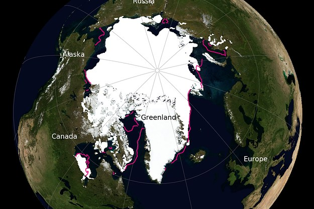 Arctic Sea Ice May Hit A Record Low This Year on map of canyon, map of gold, map of climate change, map of antarctica, map of caribbean, map of yellow, map of earth, map of copper, map of mojave, map of sahara, map of night sky, map of burgundy, map of mediterranean,