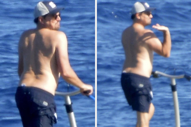 "These Pictures Of Leonardo DiCaprio Being Sassy On A ""Sea Scooter"" Legitimately Made Me Laugh"