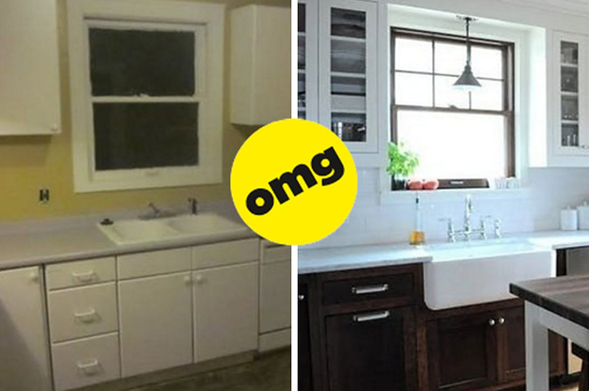19 Kitchen Makeover Before And Afters That Made Me Say Dang That S Good