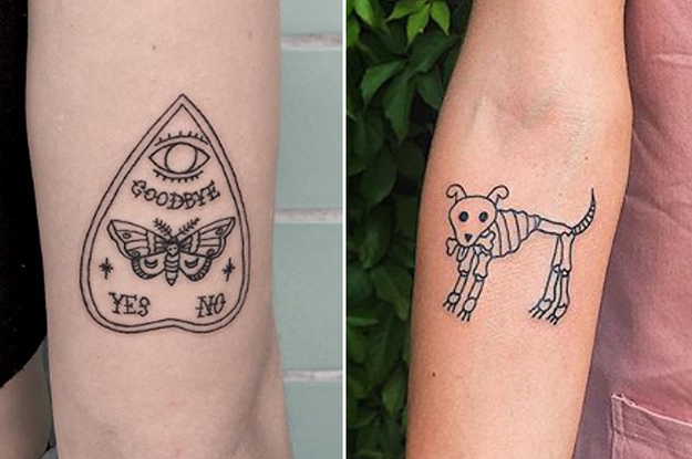 21 Cute 'N' Spooky Tattoos For Anyone Who Loves All Things Supernatural
