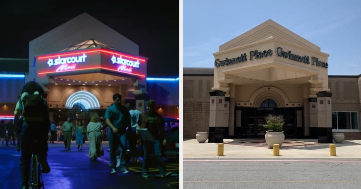 """Here's What The """"Stranger Things"""" Starcourt Mall Looks Like In Real Life Vs. The Show"""