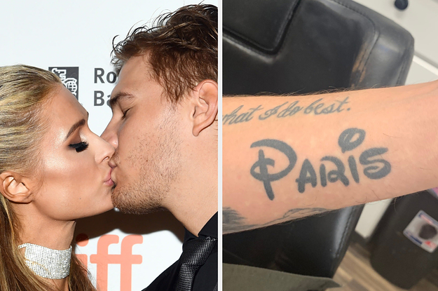 Paris Hilton's Ex-Boyfriend Covered Up His Paris Hilton Tattoo With A Giant Gorilla