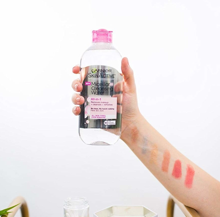 A bottle of the micellar water
