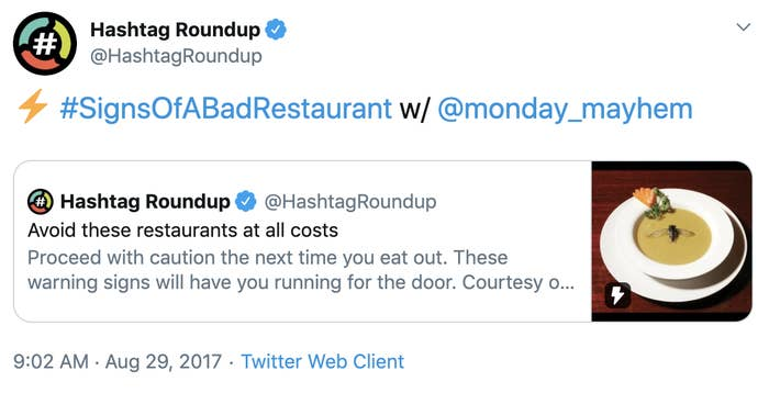 "Twitter Asked People For ""Signs Of A Bad Restaurant"" And The Responses Were Great"