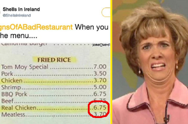 """Twitter Asked People For """"Signs Of A Bad Restaurant"""" And The Responses Were Great"""
