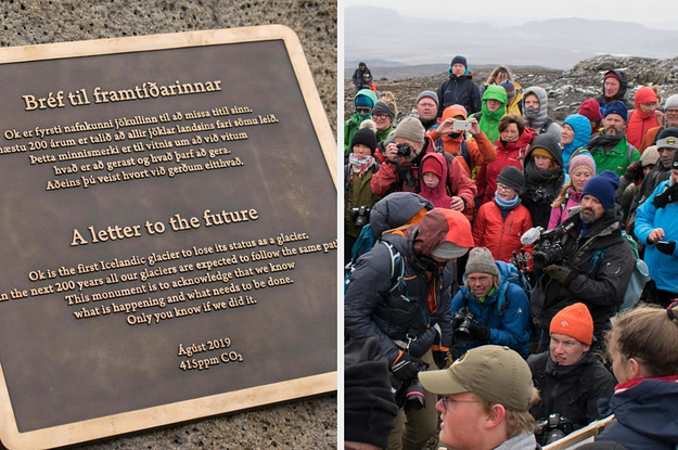 Iceland Held A Funeral For Its First Glacier Lost To Climate Change And Left This Warning Sign
