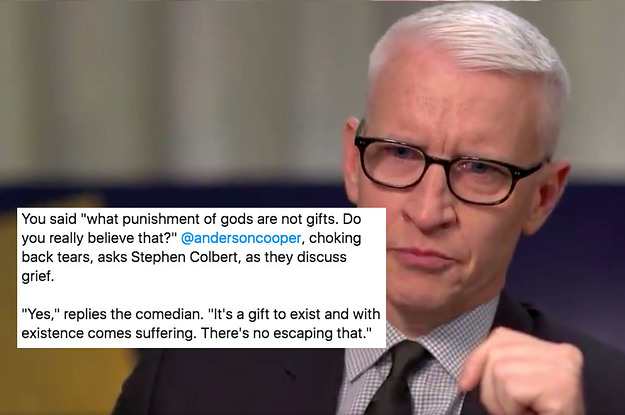 I'm Not Gonna Downplay It: Stephen Colbert's Words On Loss And Grief Will Make You Weep