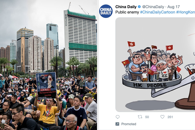 """These Ads Calling Hong Kong Protesters """"Violent"""" Are Coming Straight From China"""