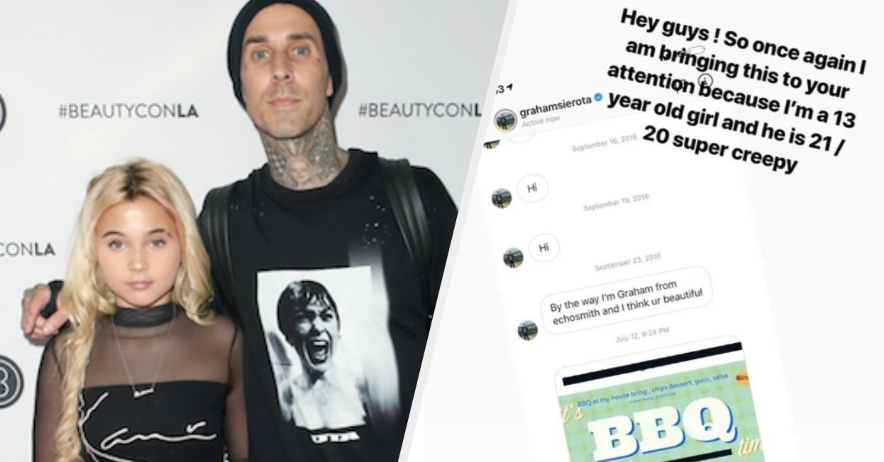 "Travis Barker Called A Musician ""Predatory"" After His 13-Year-Old Daughter Shared Screenshots Of Messages He Sent Her"