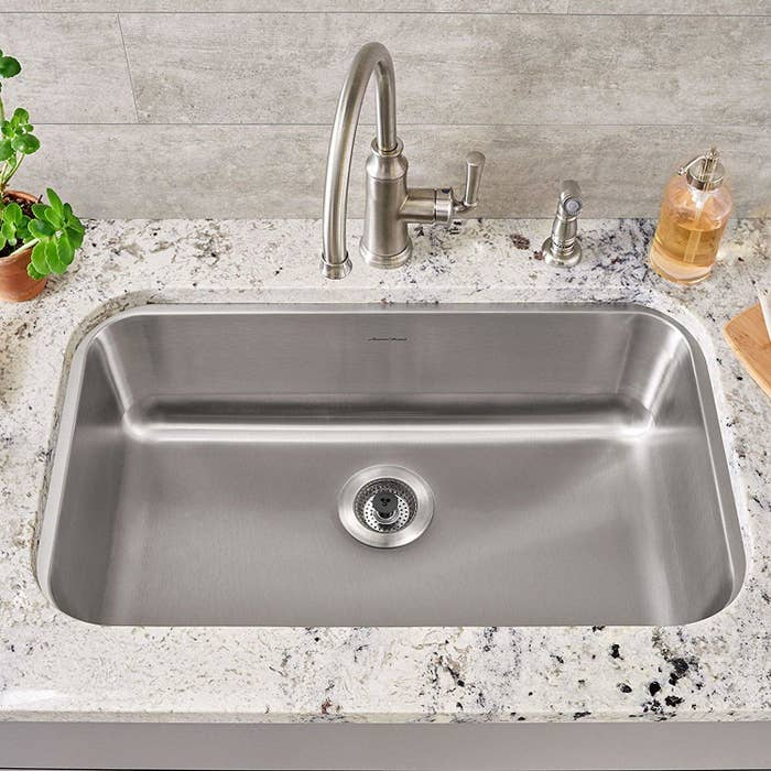 The SinkShroom strainer in a sink