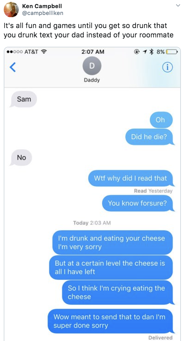 Text messages drunk What Does