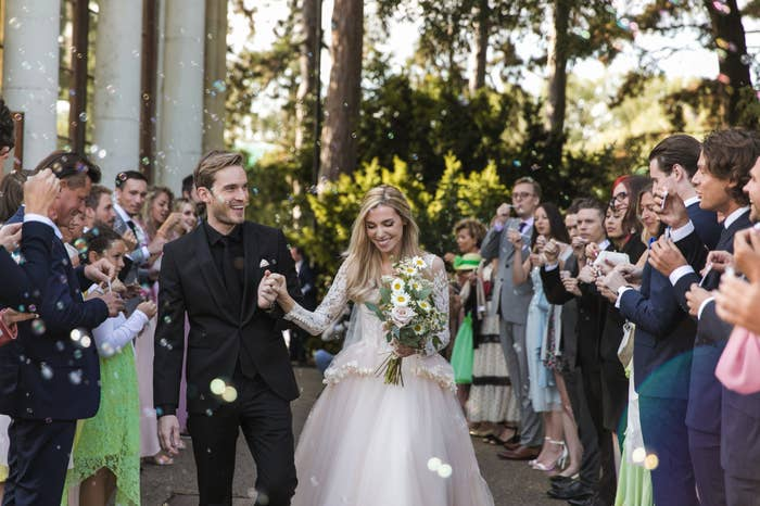 YouTube Star PewDiePie Marries His Longtime Girlfriend of Eight Years