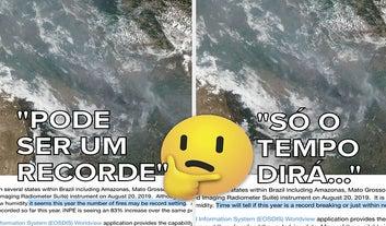A NASA suavizou sua conclusão sobre imagem de queimadas na Amazônia
