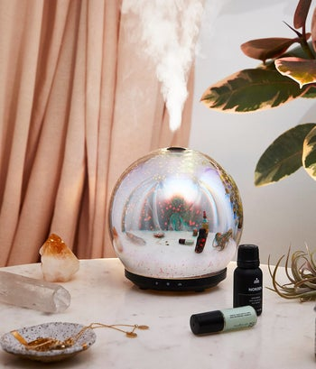 the crystal ball-style diffuser on a table