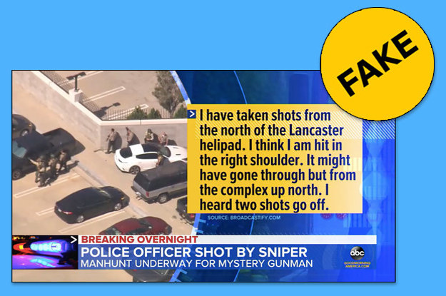 An LA Sheriff's Deputy Lied About Being Shot By A Sniper