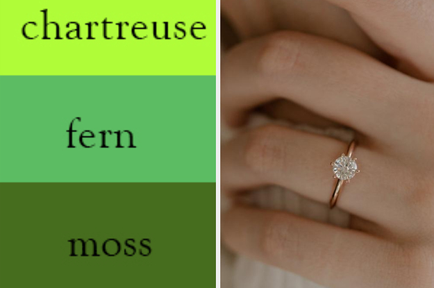 This Color Quiz Will Accurately Predict Your Dream Engagement Ring