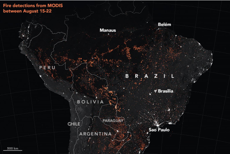 NASAが撮影したアマゾン森林火災の写真が衝撃的すぎる\u2026