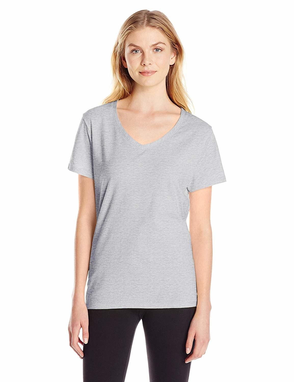 A model wearing the shirt in light steel