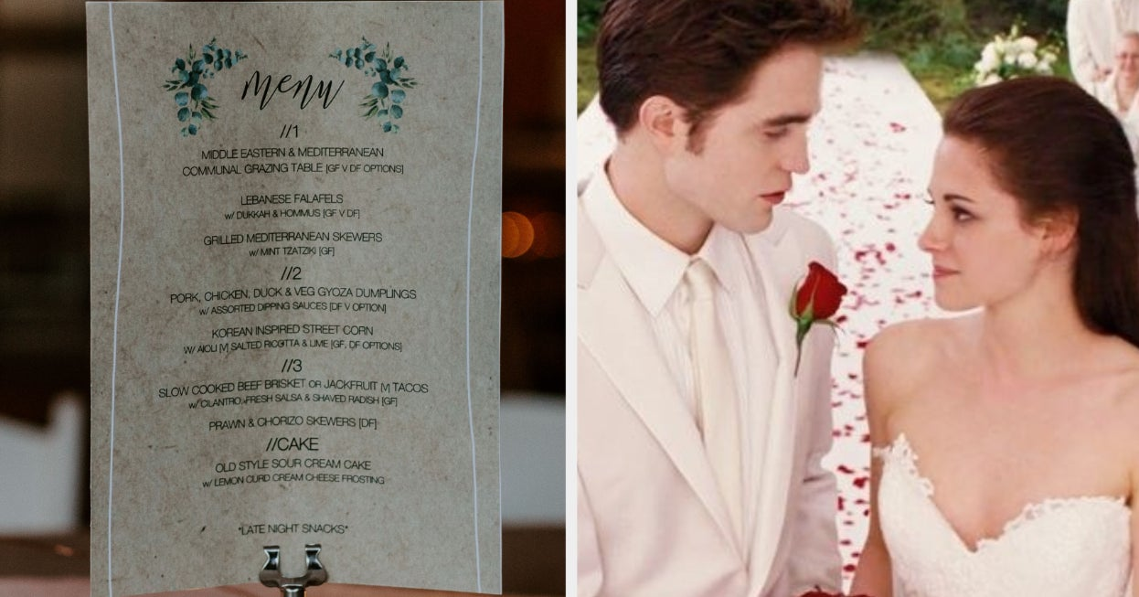 Create Your Wedding Menu And We Ll Tell You Where You Should