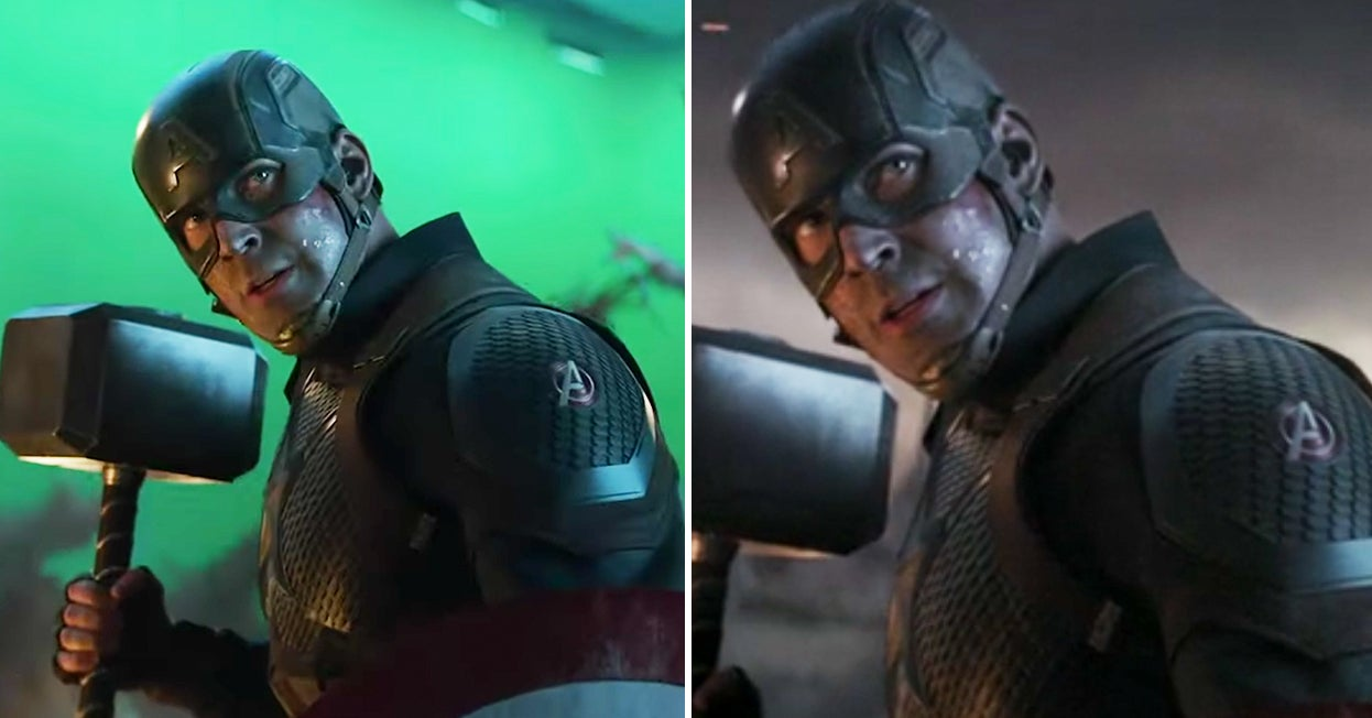 "25 ""Avengers: Endgame"" Pictures That Show Iconic Scenes Before And After CGI"