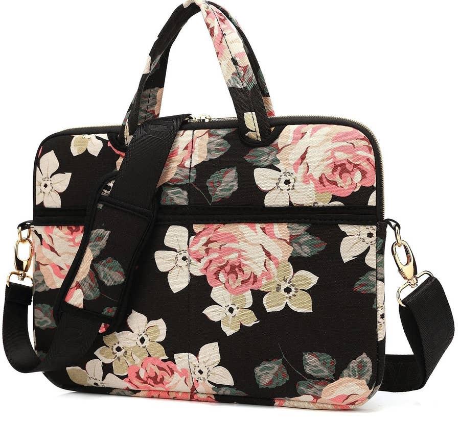 Laptop Shoulder Bag Messenger Bag Case Notebook Handle Sleeve Neoprene Soft Carring Tablet Travel Case Citrus Pattern Pattern Grapefruit Laptop Handbags 14