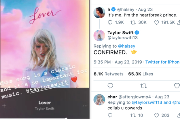 """Here's How 29 Celebrities Have Reacted To Taylor Swift's """"Lover"""""""