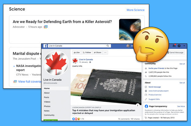"These ""Canadian"" Websites and Facebook Pages Are Actually"