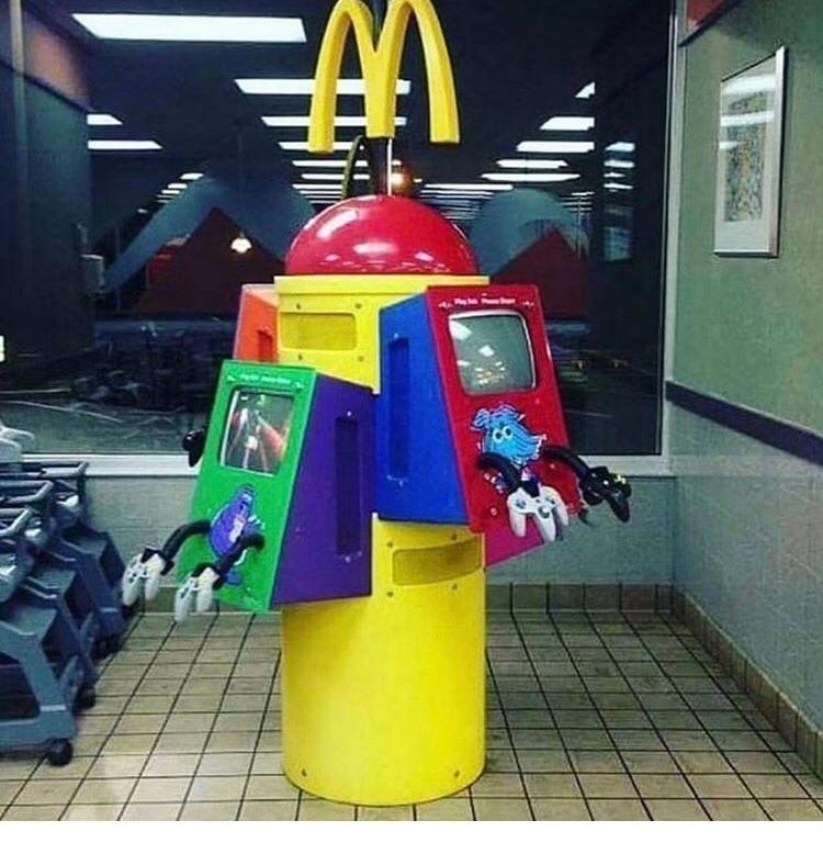 A N64 machine at a McDonald's