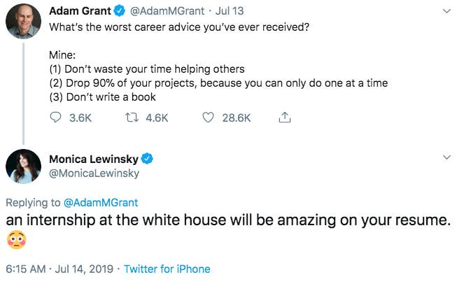 These Tweets By Monica Lewinsky Responding To The Clinton