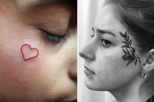 23 Face Tattoo Ideas That Even Your Parents Would Be Cool With