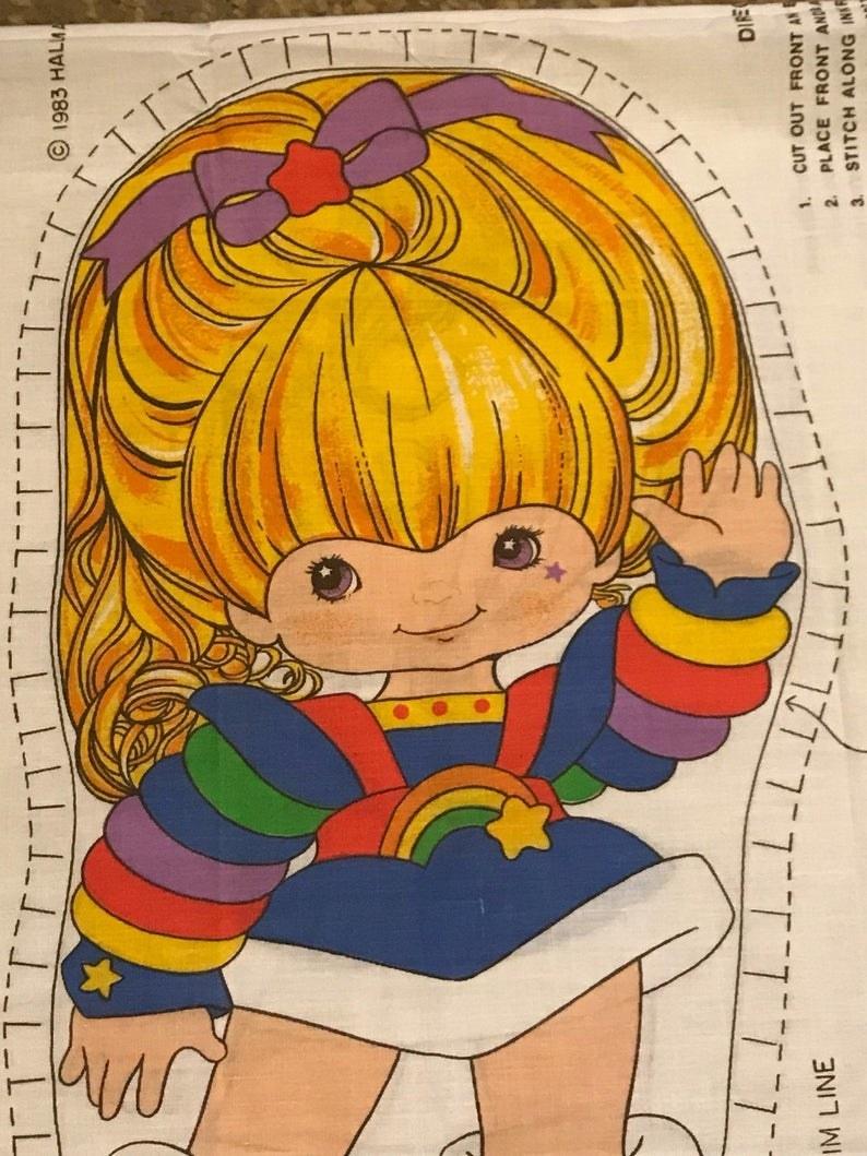 A Rainbow Brite cut and sew doll pattern.
