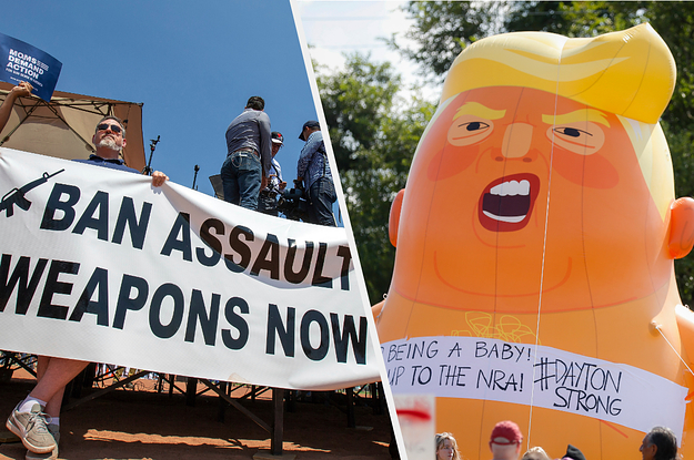 El Paso Protesters Partly Blame Trump's Rhetoric On Immigration For Mass Shooting