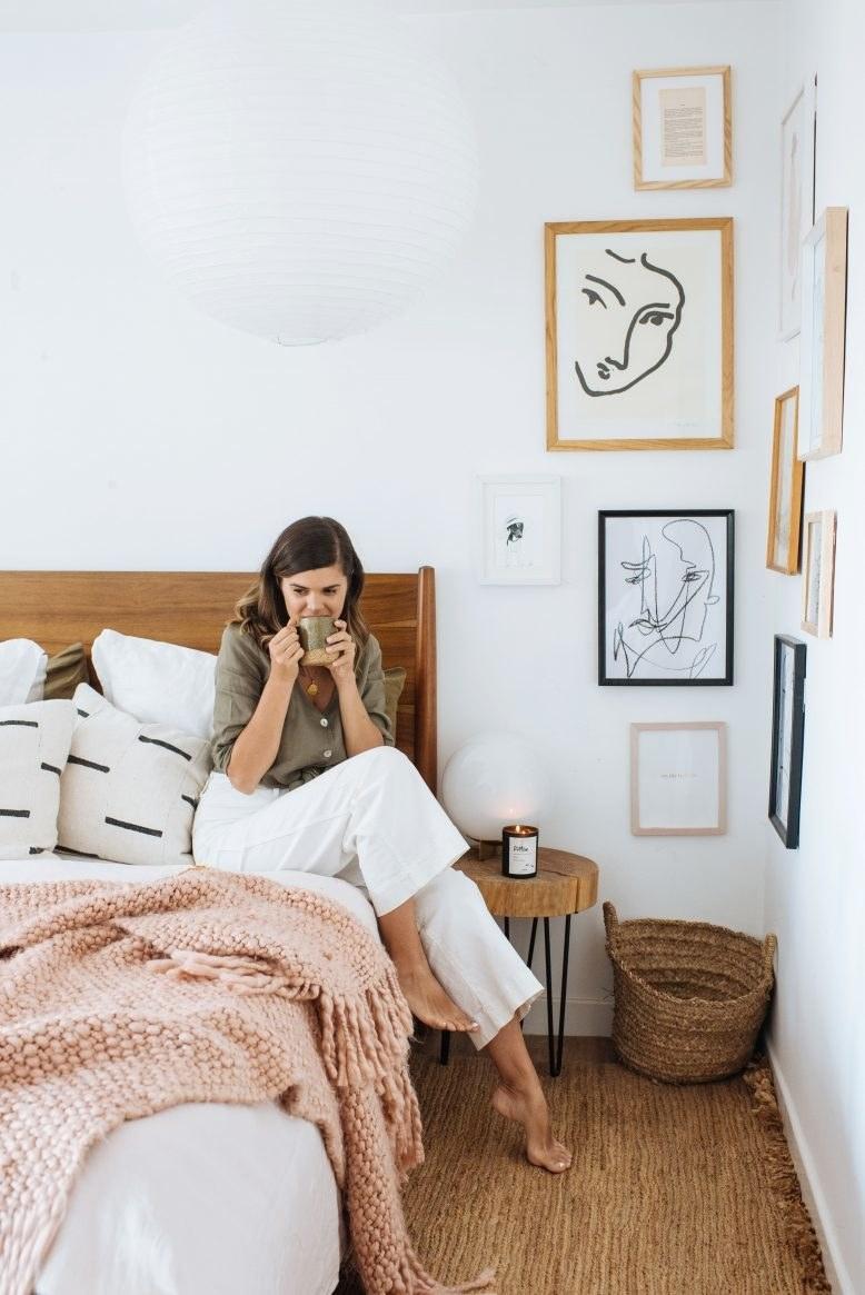 A gallery corner in Model's bedroom