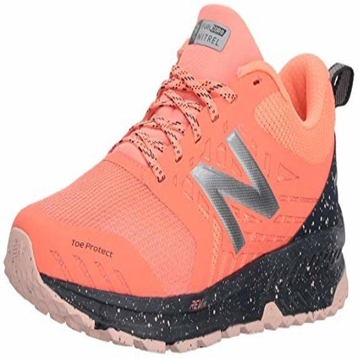 the sneakers in orange