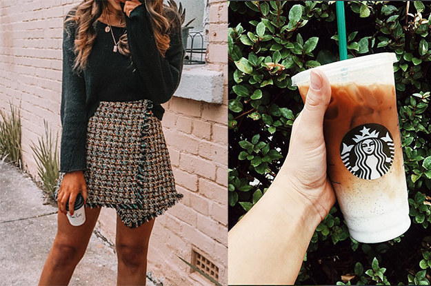 Build A Fall Wardrobe Aesthetic And We'll Tell You What Starbucks Drink You Are