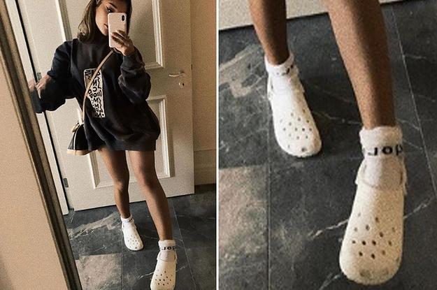 Instagram Of Her Wearing Crocs With Socks
