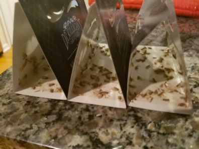 reviewer pic of tons of dead moths in the traps