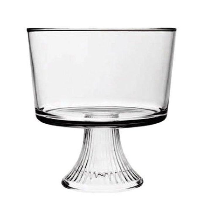 a glass trifle bowl