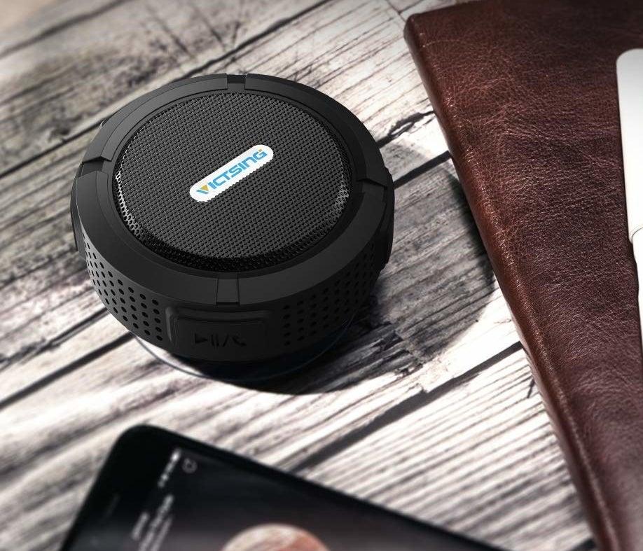 small round speaker