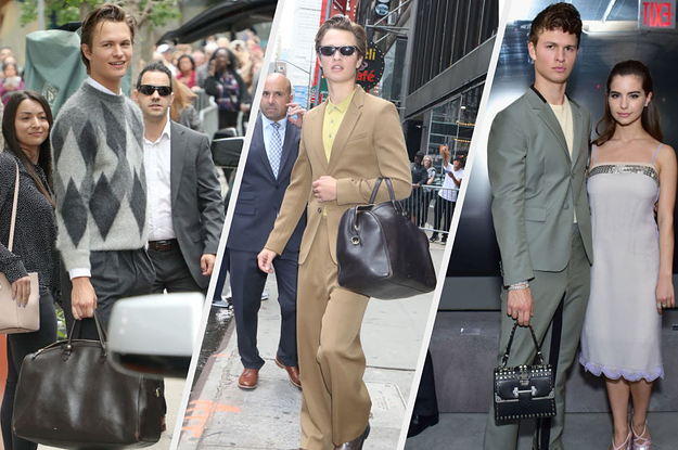 Ansel Elgort Can't Stop Carrying Purses And I Need To Know What's Inside Them