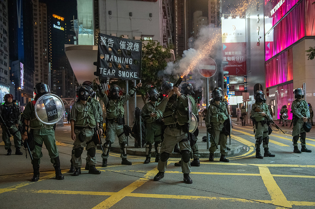 A New Bill Would Stop The US From Exporting Tear Gas To Hong Kong