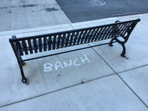 bench labled banch