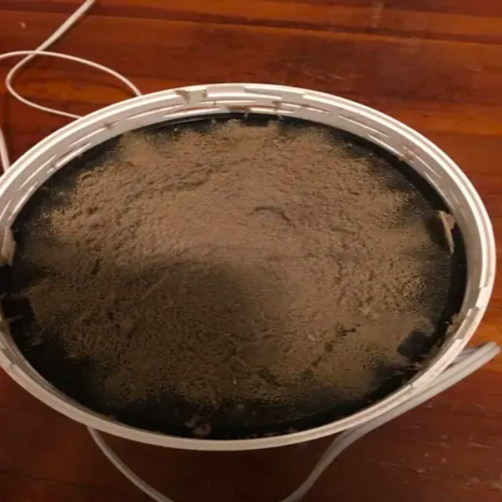 The inside of a purifier, filled with dust