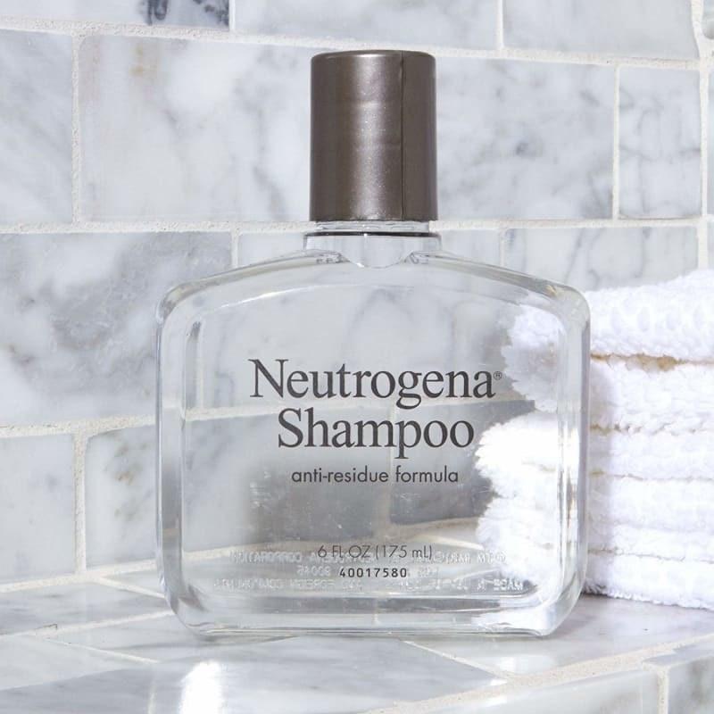 bottle of neutrogena anti-residue shampoo